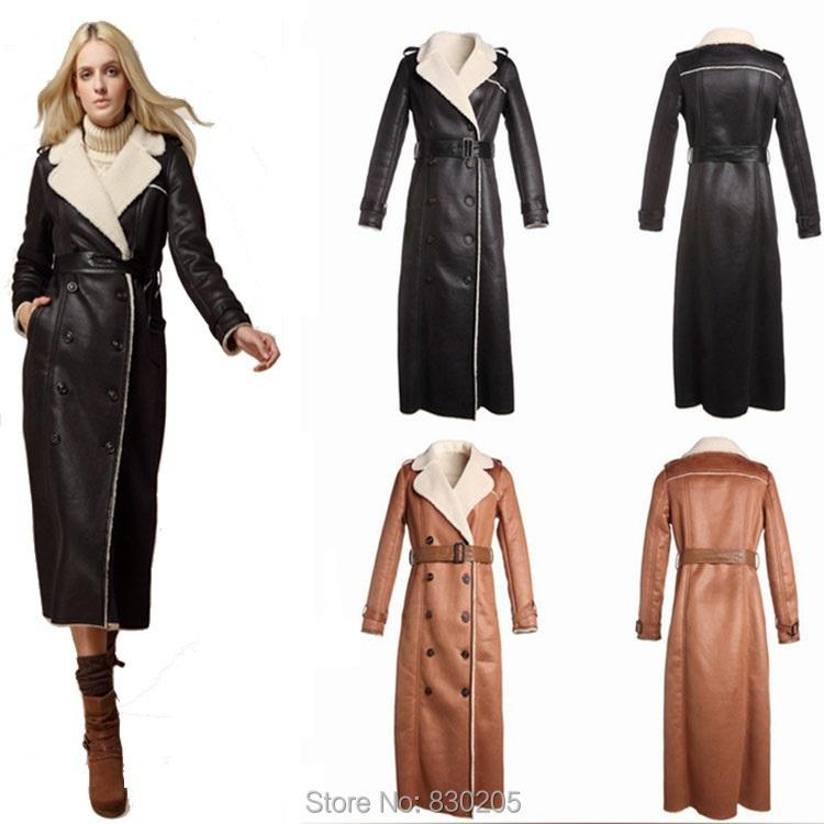 Long Leather Coat Women