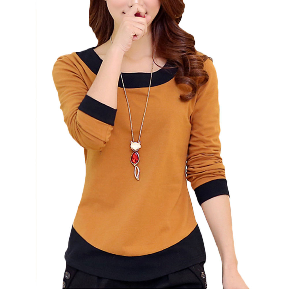 Buy new autumn 2017 woman t shirt long for Where to buy casual dress shirts