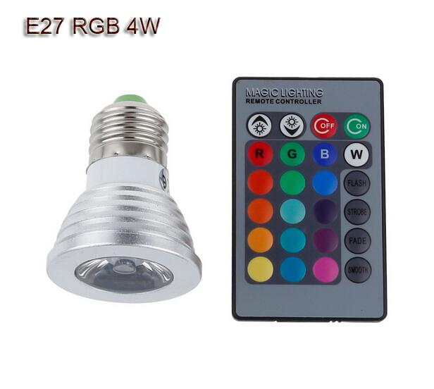 10x E27 4W spotlight RGB lamp led 12V dimmable light spot bulb bombilla foco lampara luces lampen ampoule lampadine 16 color(China (Mainland))