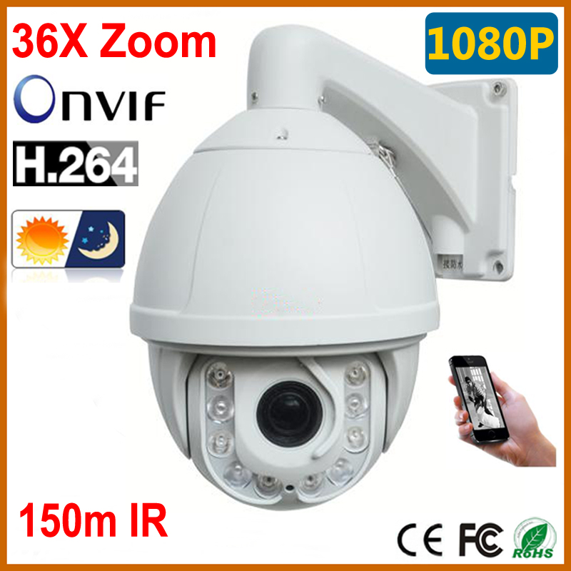 CCTV PTZ Camera Outdoor Waterproof 1080p 2MP High Speed Dome Camera 36X Optical Zoom 10PCS IR 150M IP Security Cameras Wipers(China (Mainland))