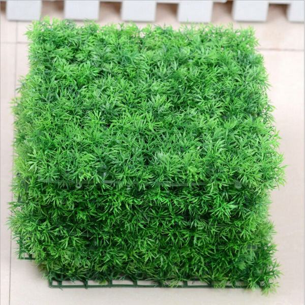6pcs artificial lawn fake turf plastic green carpet grass for Artificial grass decoration crafts