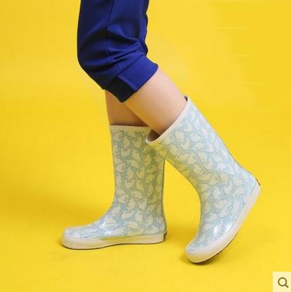 Women Short Rainboots Women Rain shoes Ladies Mid-calf Rain Boots Female Wellies Female Rubber Waterproof  Shoes Free Shipping