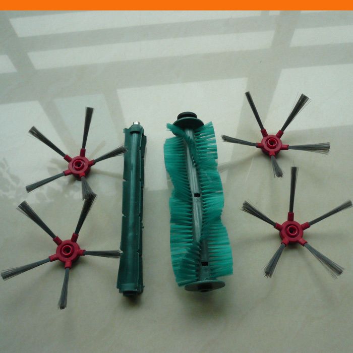 Robot vacuum cleaner SQ-A360 side brush 4pcs+rubber brush 1pc+bristle brush 1pc