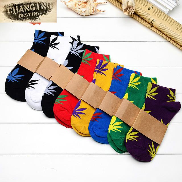 Горячая распродажа хлопок германии Harajuku хип-хоп кленовый лист носки мужская улица ...