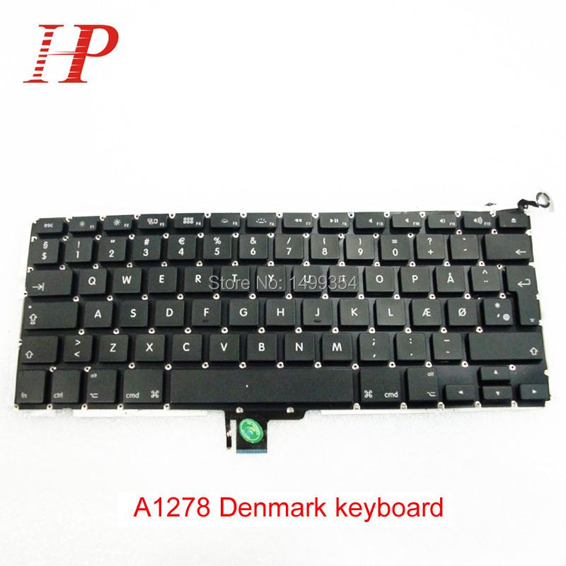 "Original Laptop Parts DM Keyboard For Macbook Pro 13"" A1278 Danmark Keyboard(China (Mainland))"