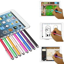 Brand New 8 colors 12.5cm Fine Point Round Thin Tip Capacitive Stylus Pen For iPad 2/3/4/5/air/mini For Amazon Tablet(China (Mainland))