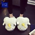 2017new all inclusive soft warm plush home slippers men women cartoon cotton slipper Unicorn plush shoes