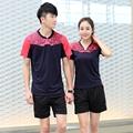 Free shipping table tennis clothes T shirt shorts short sleeved men women table tennis team China