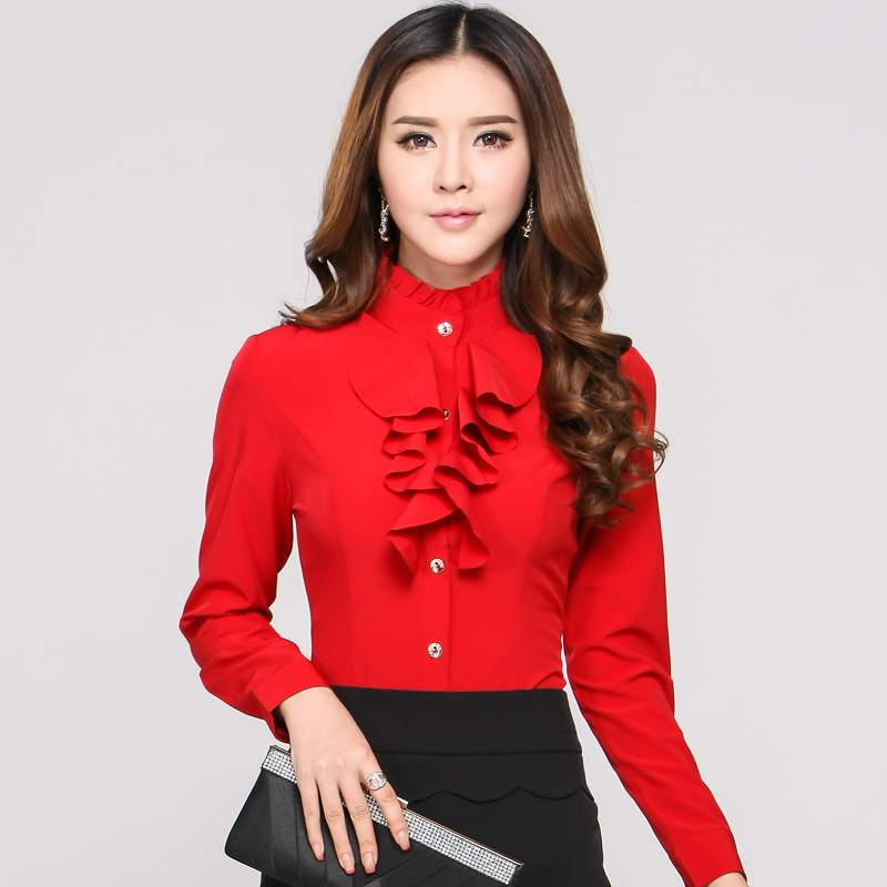 Cool  Blouses OL Fashion Ladies Professional Clothes Office Uniform Shirts