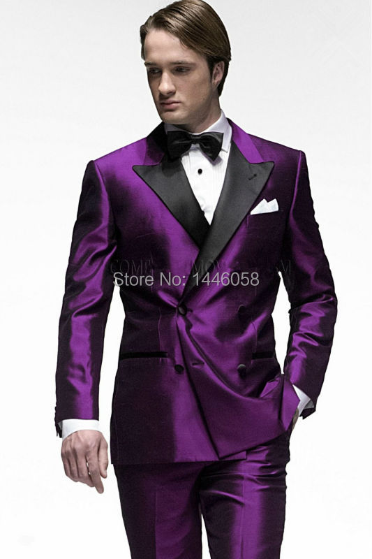Online Buy Wholesale groom suit black and purple from China groom