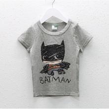 2-7Year 2016 Summer New Cartoon Children T Shirts Boys Kids batman Designs kids Clothing For Boys Clothing Girls T-Shirts Z29