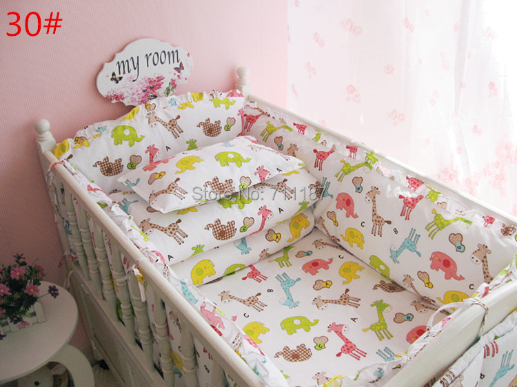 New Arrival 12pc Baby Bedding Set,100% Cotton Crib Bedding Sets,Baby Cot Bedding,Cover 16 Character Patterns And 120*70cm Size<br><br>Aliexpress