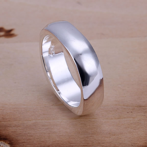 R004 925 silver ring, fashion jewelry, Square Ring - fengqin gong's store