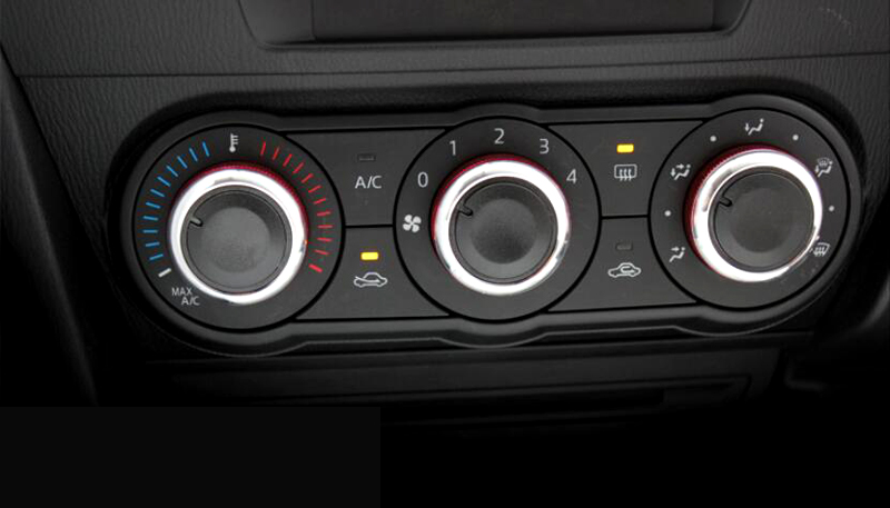 Blue Interior Air conditioning knobs Button Cover Trim 3pcs  For Mazda 3 Axela 2014 2015 only for Low Equipe model car<br><br>Aliexpress