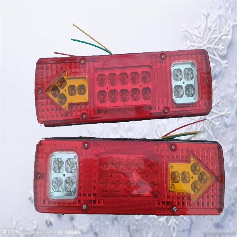 2pcs/set 12v Smart Mercedes Car 19 Led Trailer Truck Rv Atv Turn Signal Running Tail Light White-amber-red(China (Mainland))