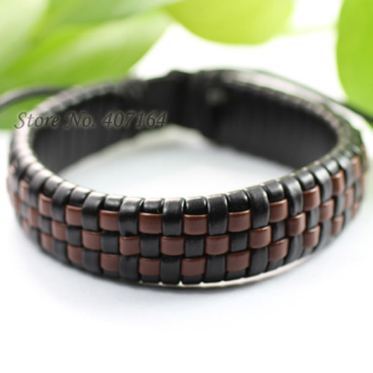 SF11- fashionable brown wrap multilayer genuine leather bracelet Hemp rope man - SunFlower Trade Co.,Ltd store