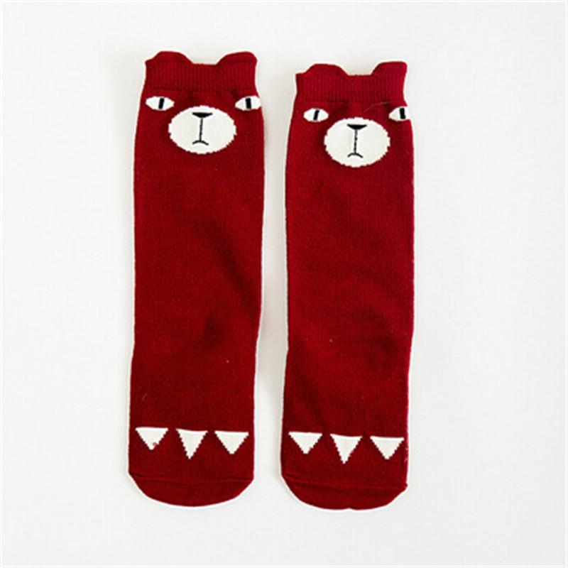 Kids Fox Socks knee high Toddler Boot Sock leg warmer Totoro socks Girl Collant enfant Children Chaussette Cute Moustache Socks