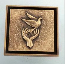 three holes Fashion Peace Antique Brass Finished Floor Drain Anti-odor Style Waste Drain torneira eletrica banheiro