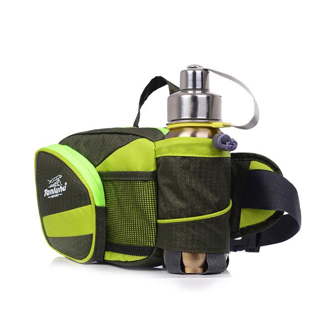 Спорт поясная сумка свободного покроя бутылку пакет фитнес путешествия открытый ход ...