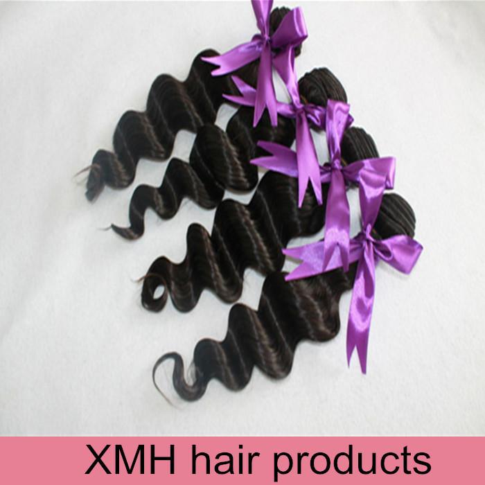 6A Peruvian Virgin Hair loose wave 4Pcs Unprocessed Peruvian loose Wave Bundles Cheap Peruvian Human Hair Weave Extensions