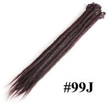 SAMBRIAD 20 дюймов ручной работы дреды волосы для наращивания крючком оплетка регги крючком волосы синтетические дредс волосы плетение волос(China)