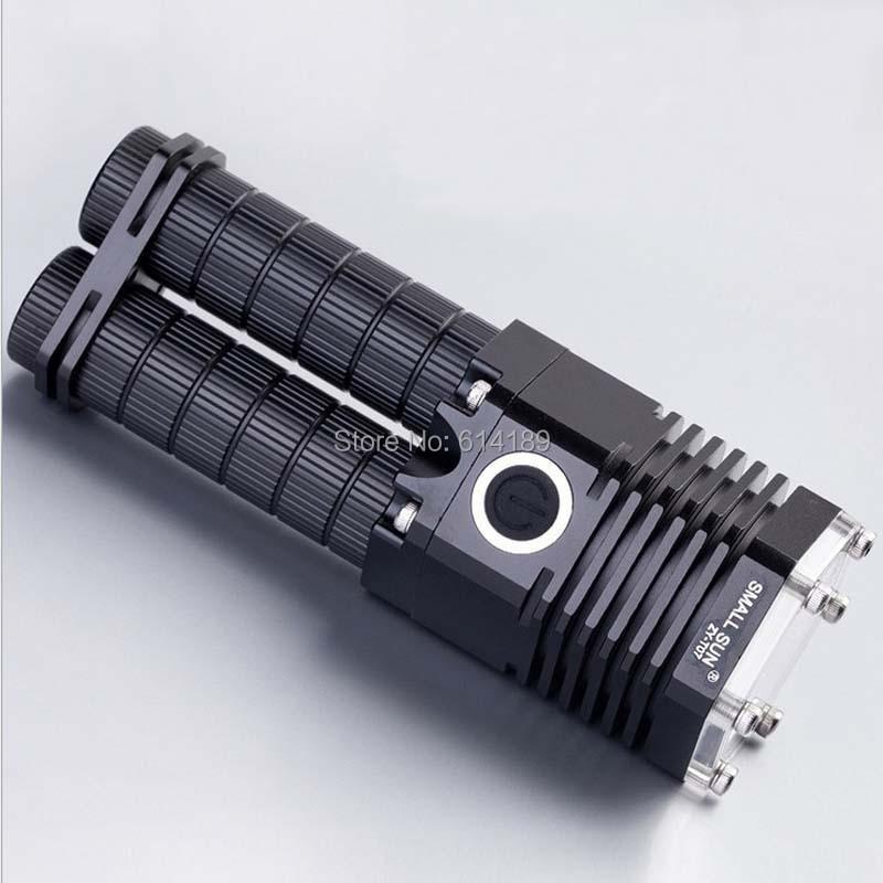 Small Sun T07 CREE XM-L T6 10W 1000lm 5-Mode LED Flashlight (1x18650/2x18650)<br><br>Aliexpress