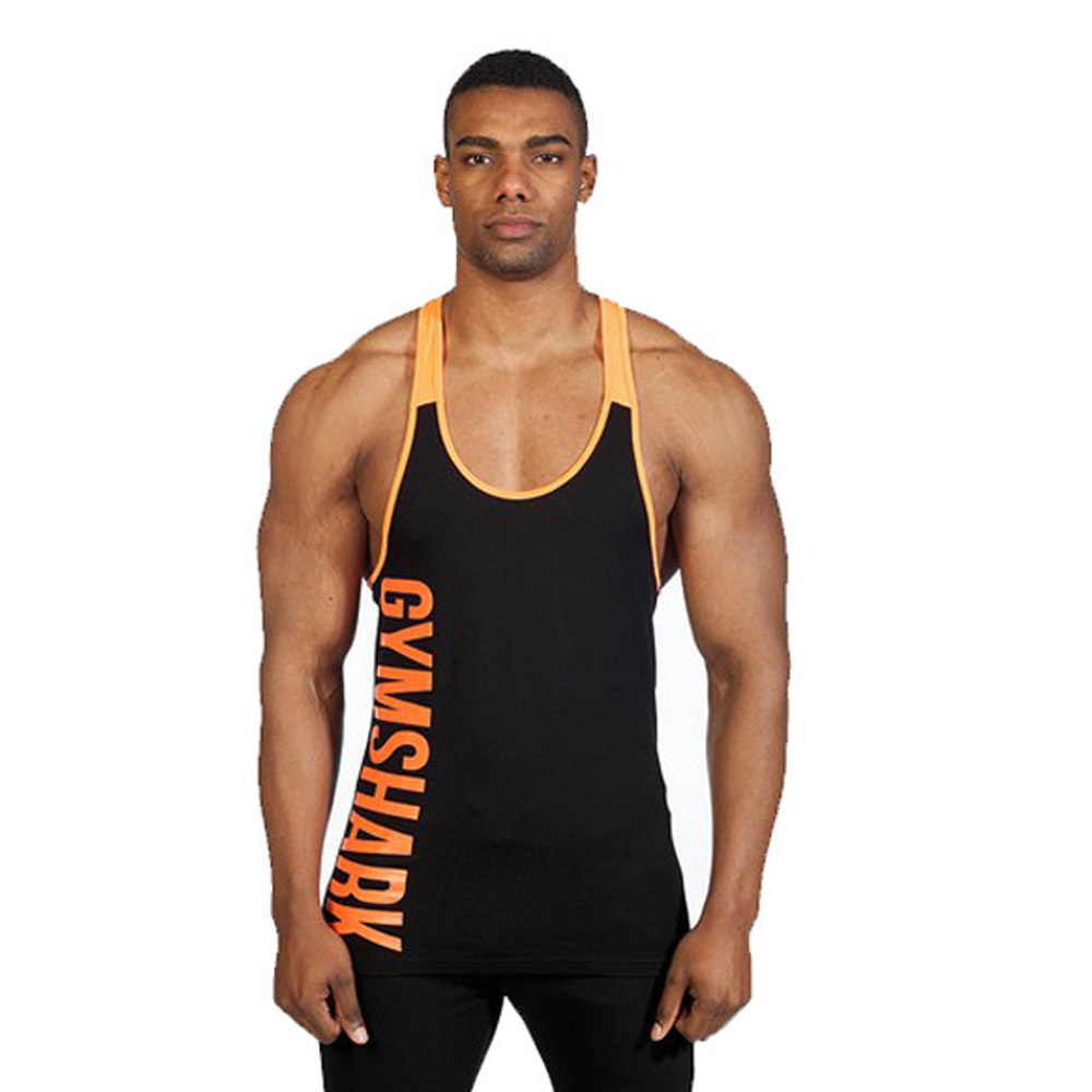 New brand gym shark singlets mens tank tops stringer Fitness shirts for men