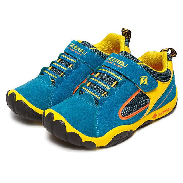 2016 Горячие продажа мальчики девочки спортивные shoes сопротивление скольжению резиновая подошва дети прогулки shoes Весна Осень детская мода кроссовки