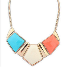 New Arrival Punk Style Irregular Pattern Rhinestone Necklaces Gold Plated Clavicle Chain Necklace for Women CC2178(China (Mainland))