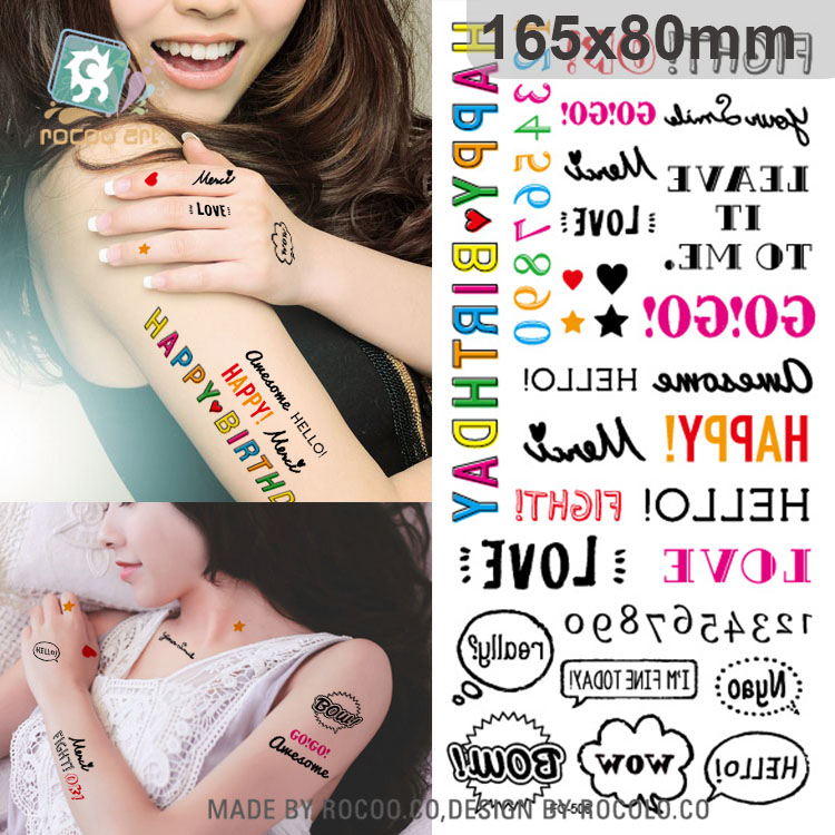 customized nontoxic many lovely picture Temporary Tattoo Sticker free shipping fc-506 for sexy pretty girl arm(China (Mainland))