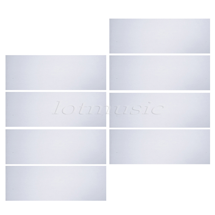 8pcs Translucent Self Adhesive Acoustic Pickguard Scratch Plate Sheet 18*46cm Soft(China (Mainland))