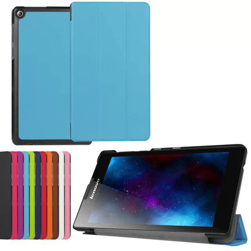 Ultra Slim Tri-Fold PU Leather Case Stand Cover 7 inch Lenovo TAB 2 A7-20F Tablet + Screen Protector Film tracking number - Doldol (HK store Co., Ltd)