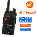 Walkie Talkie Baofeng UV 8HX Dual band UHF VHF Portable Radio Scanner For 2 Two Way