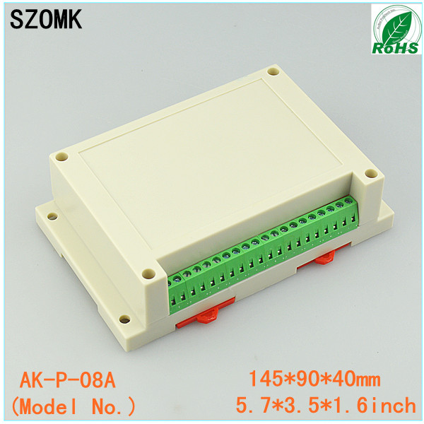 1 piece distribution box plastic box electronics wall mount abs din rail case control box 145x90x40mm<br><br>Aliexpress
