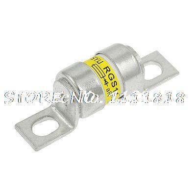 Silver Tone Metal Bolted Fast Blow Fuse 32A 380V AC SYU RGS11(China (Mainland))