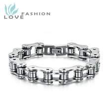 Free Shipping stainless steel men's jewelry wholesale bicycle chain bracelet fashion gift cool type TS3136BMK