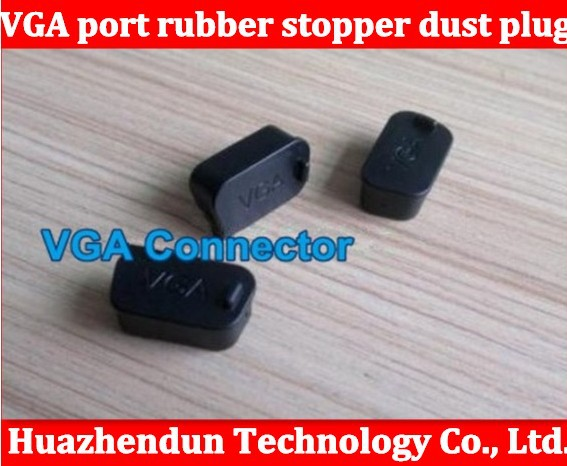 Free shipping VGA display socket Data port rubber stopper dust plug cover protective case interface also have USA hdmi 200pcs(China (Mainland))