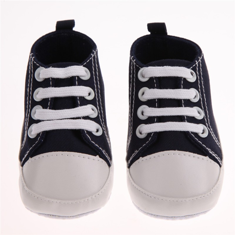 7 цвета 3 размеры новорожденный унисекс дети классические спортивные кроссовки Bebe мягкое дно анти-слип T - кросс-привязанные обувь