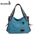 2016 Fashion Canvas Bag Women Handbag Shoulder Bags Messenger Bags Casual Blue Hobos Bolsa Feminina High