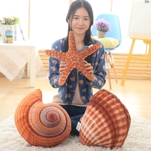 Buy 1pcs Starfish shell conch plush stuffed toys pillow children Marine life plush dolls kids toys birthday gift for $10.00 in AliExpress store