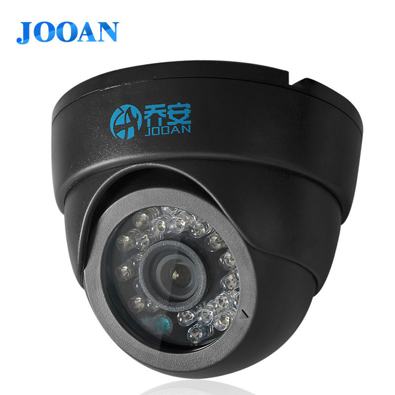 Гаджет  JOOAN 1/3 color  CMOS 700TVL dome mini cctv camera,HD indoor black 36 ir leds day/night security home video surveillance camera  None Безопасность и защита
