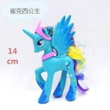 14 centímetros My little pony PVC Rainbow unicorn cavalo bonito pouco ponis cavalo toy figuras de ação dolls para a menina presente de aniversário presente de natal(China)