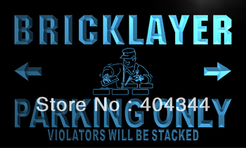 LZ152- Bricklayer Parking Only LED Neon Light Sign