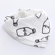 AZEOSHE bebé Baberos Niño niña Bandana agua absorber babero Burp paño triángulo algodón bebé bufanda Burp bebé accesorios de Navidad(China)