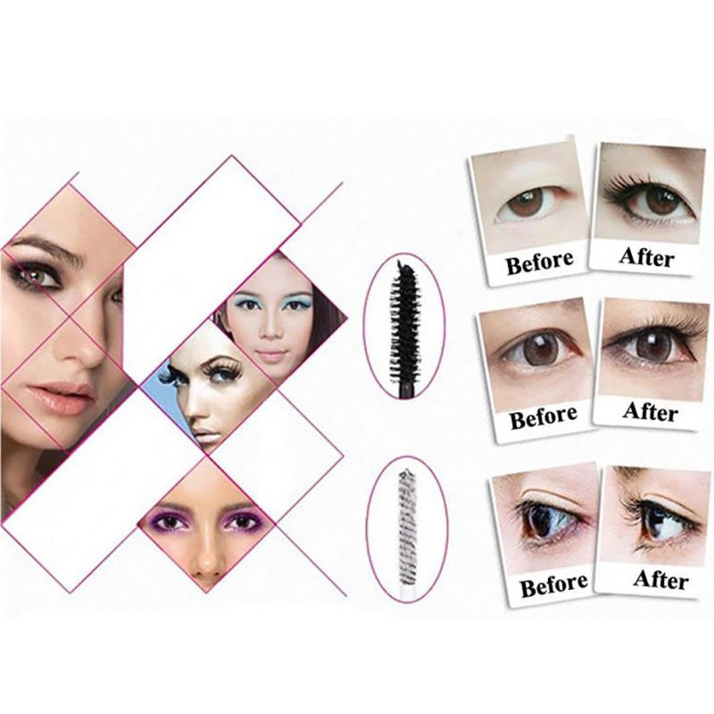 Hot Lady 3D Fiber Mascara Long Black Lash Eyelash Extension Waterproof Eye Cosmetic