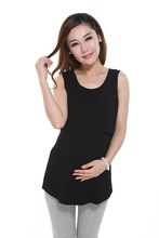 Modal Maternity underwaist Childing breast feeding clothes Undershirt for pregnant women sleeveless feeding clothes nursing tops(China (Mainland))