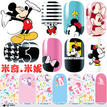 Nail Art Stickers Wraps Beauty Mickey Minnie Cute Diy Decorations 5.7*3Inch Nail Tools 2015 New 10pcs/lot