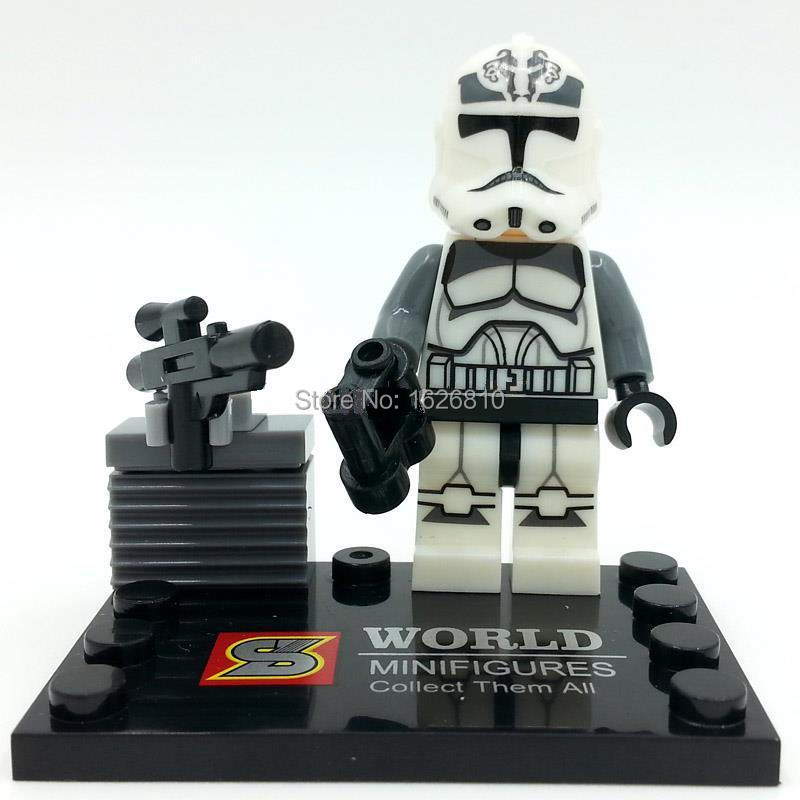 PKNOW SY265 2 Star War Clan Conflict Super Hero Minifigure Building Block baby Toys Action Figure Gift - Jace Discount Center store