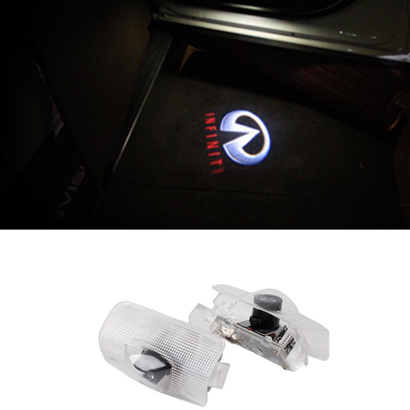 LED Car Door Logo Projector Light Ghost Shadow Light For Infiniti fx35 fx37 G37 G25 Q50 Q60 Q70 QX56 QX50 QX70 EX35 M25 M37<br><br>Aliexpress