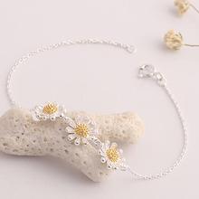 Buy Cindiry New Fashion Cute Little Daisy Flower Bracelet Female 3 Daisy Flower Accesories P0 for $1.89 in AliExpress store